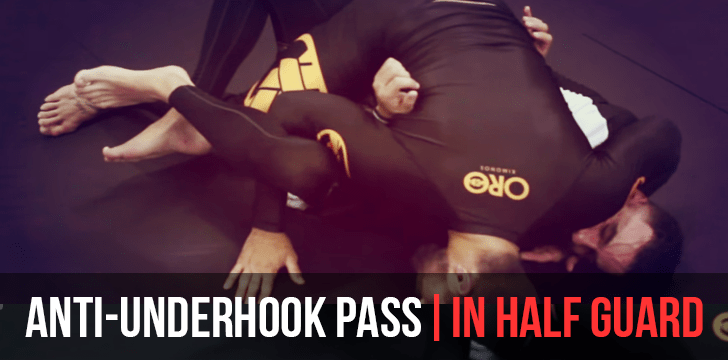 ANTI-UNDERHOOK PASS | IN HALF GUARD