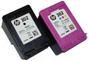 1x Set Original HP Tintenpatrone F6U66AE F6U65AE HP 302 HP302 für HP Officejet 3830 - BLACK + Color - Leistung: BK ca. 190 / Color ca. 165 Seiten/5%