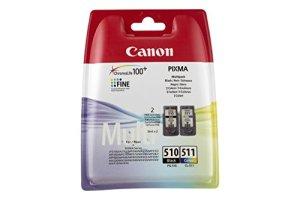 Canon PG-510 / CL-511 Tintenpatronen Multipack 2 x 9 ml schwarz/mehrfarbig