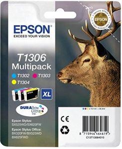 Epson T1306 Tintenpatrone Hirsch, Multipack, 3-farbig