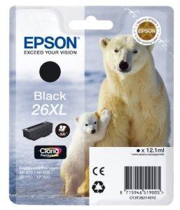 Epson 26XL Tintenpatrone (Eisbär, Singlepack, XL) schwarz