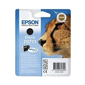 Epson T0711 Tintenpatrone Gepard, Singlepack, schwarz