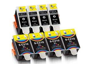 8 kompatible Druckerpatronen für Samsung CJX-1000 CJX-1050W CJX-2000FW Patronen kompatibel zu INK-M210 INK-C210 INK-M215
