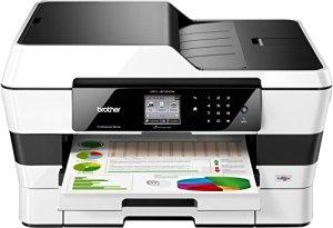 Brother MFC-J6720DW 4-in-1 Farbtintenstrahl-Multifunktionsgerät (Drucken, scannen, kopieren, faxen, 600 x 1200 dpi, USB 2.0, Duplex) schwarz/weiß