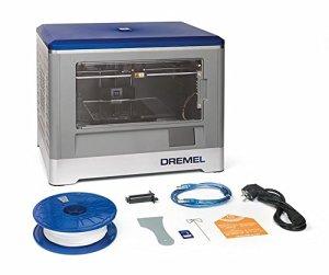 Dremel 3D-Drucker Idea Builder, Filamentspule weiß, Stromkabel, USB-Kabel, SD-Karte, Spulenarretierung, Druckmatte, Nivellierblatt, Reinigungsdorn