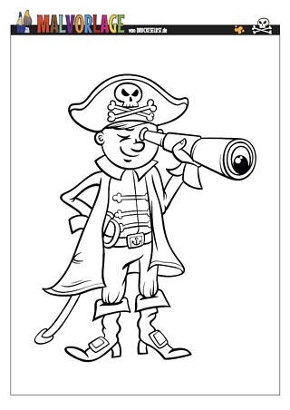 Drucke selbst! Piratenbilder zum Ausmalen