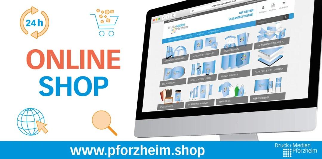 Schaubild Online Shop