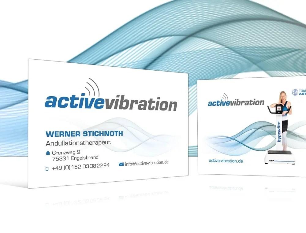 Portfolio Active Vibration Visitenkarten