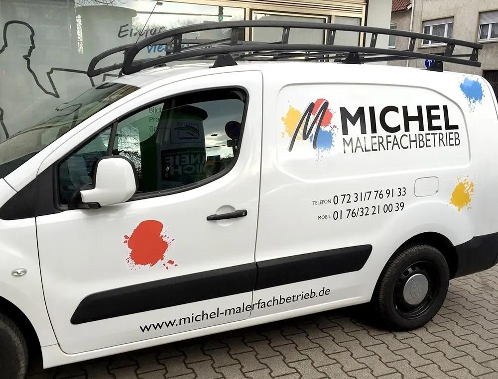 Portfolio Maler Michl Fahrzeugbeschriftung