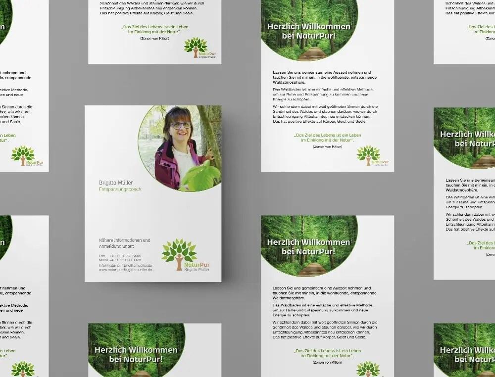 Portfolio Naturpur Handzettel