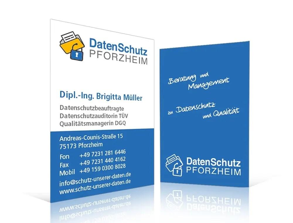 Portfolio Schutzunsererdaten Visitenkarte