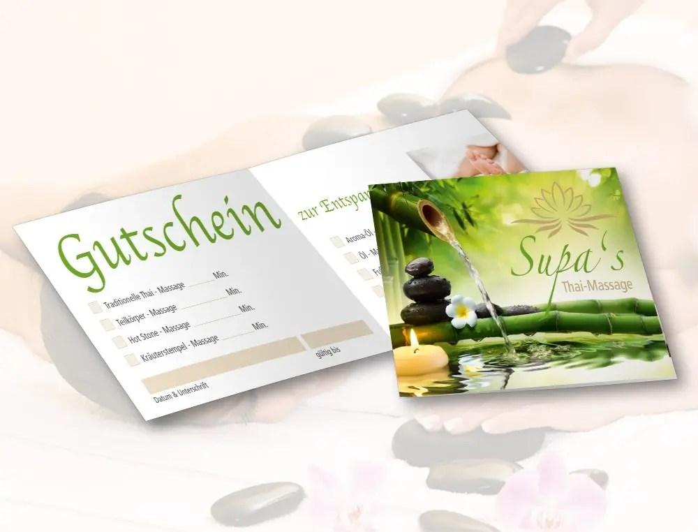 Portfolio Supas Thaimassage Gutschein