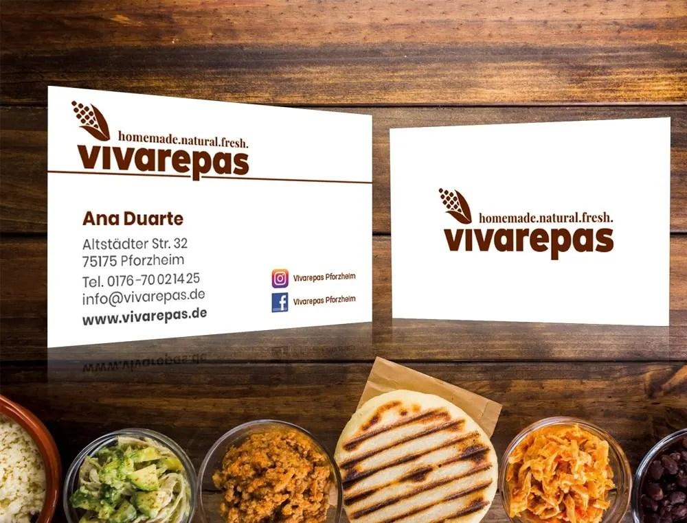 Portfolio Vivarepas Visitenkarten