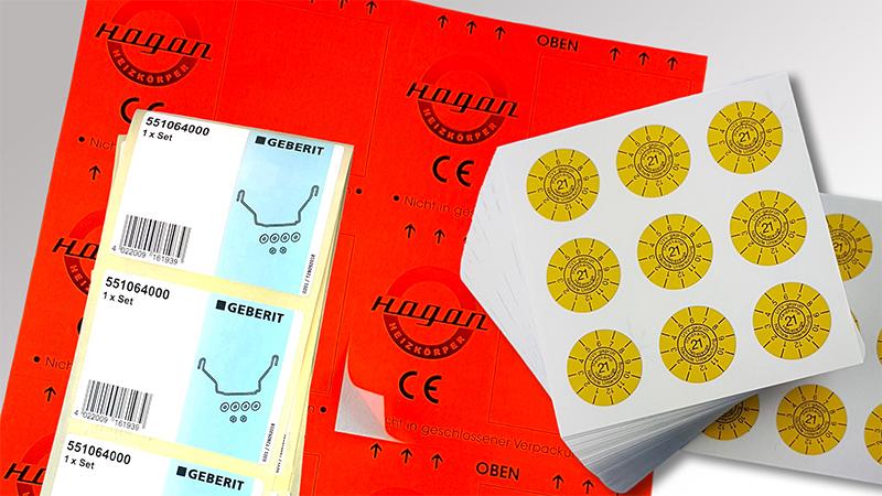 Bogenetiketten von Druck+Medien Heiligenhaus