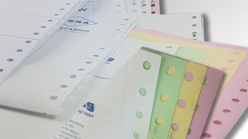 Endlosformulare von der Druck+Medien Heiligenhaus GmbH