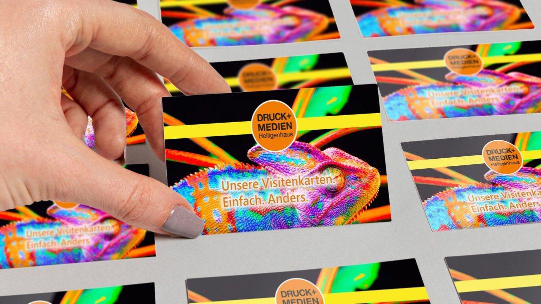 Visitenkarten von Druck+Medien Heiligenhaus