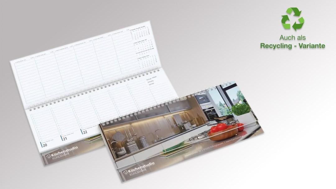 Compact Tischquerkalender von Druck+Medien Heiligenhaus