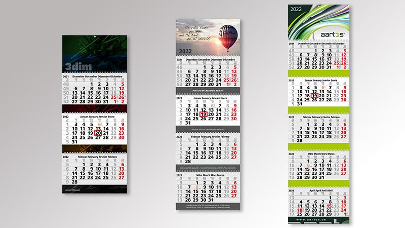 Maxi3 Quadro4 Grande 5 Wire-O Monatskalender von Druck+Medien Heiligenhaus