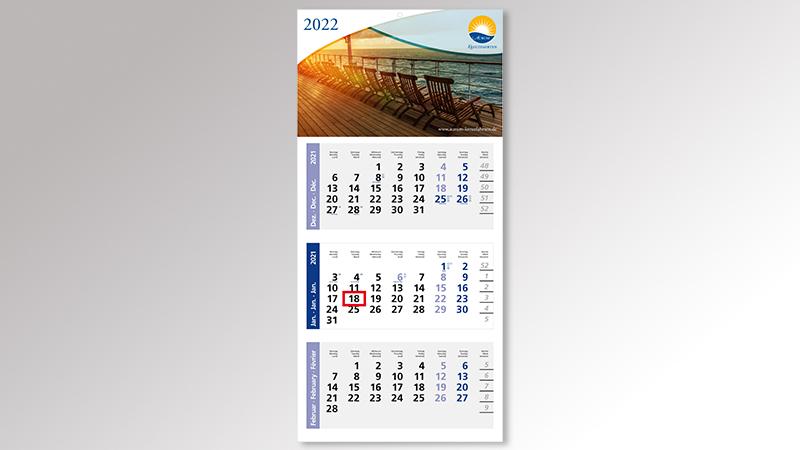 MediumLight3 Monatskalender von Druck+Medien Heiligenhaus