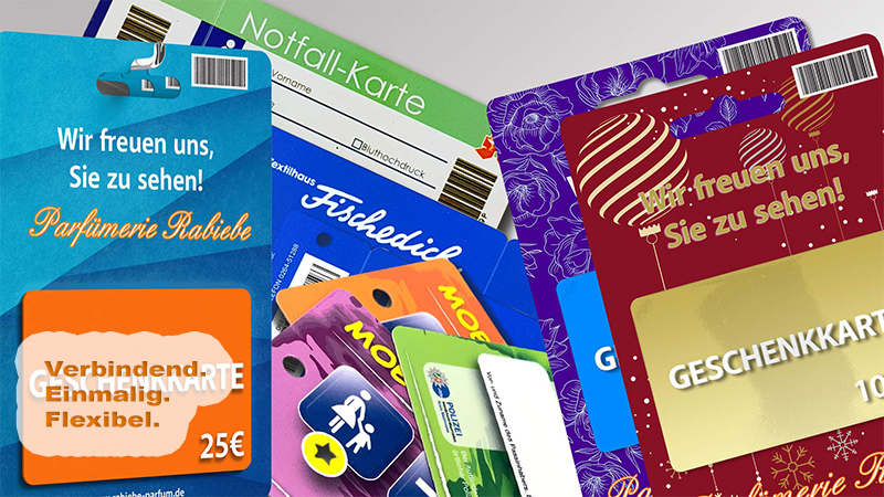 Plastikkarten von der Druck+Medien Heiligenhaus GmbH