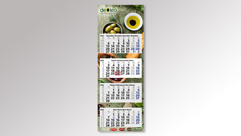 QuadroLight4 Monatskalender von Druck+Medien Heiligenhaus