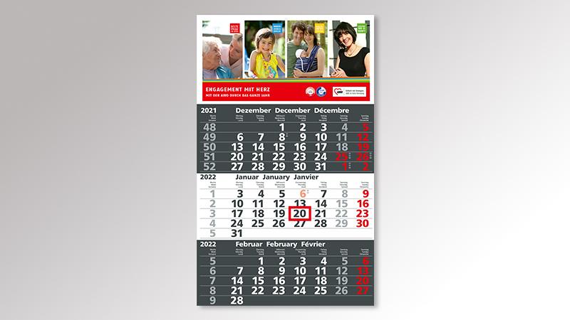 Solid3 Monatskalender von Druck+Medien Heiligenhaus