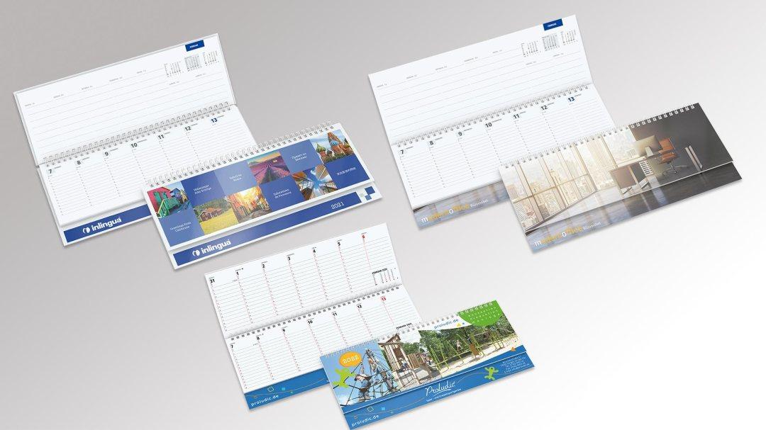 Tischquerkalender von Druck+Medien Heiligenhaus