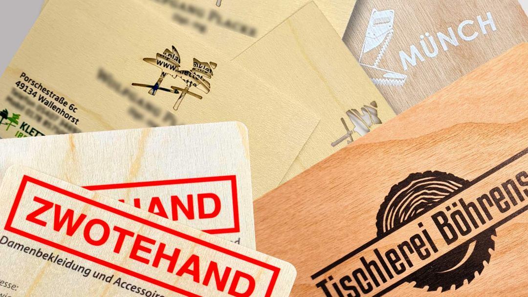 Unsere Visitenkarten aus Holz Von Druck+Medien Heiligenhaus