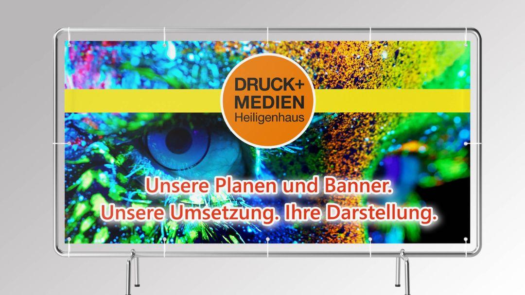 Werbebanner von Druck+Medien Heiligenhaus