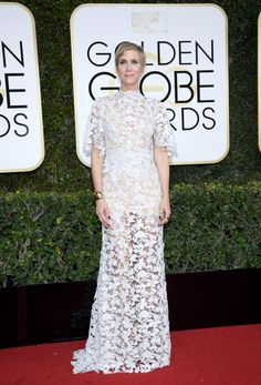 Kristen Wiig in a Reem Acra dress /Vogue