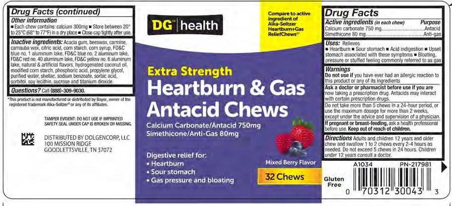 Heartburn and Gas Antacid Chews (DOLGENCORP LLC): FDA ...