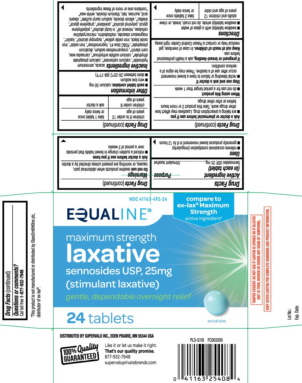 Laxative Pills Maximum Strength (EQUALINE (SuperValu ...