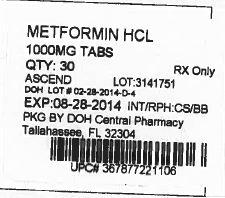Metformin Hydrochloride (State of Florida DOH Central