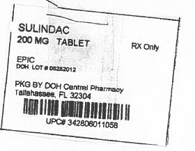 Sulindac (State of Florida DOH Central Pharmacy): FDA