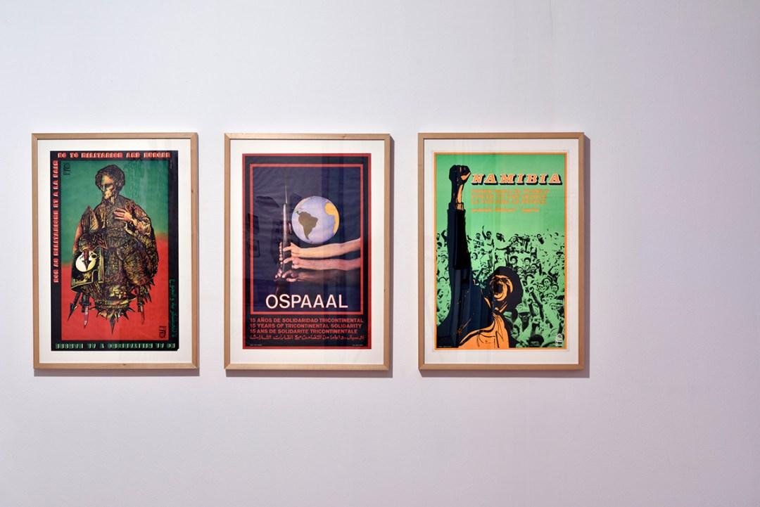 OSPAAAL plakati, 1980-e, offset tisak; foto Dejan Habicht, Moderna galerija Ljubljana