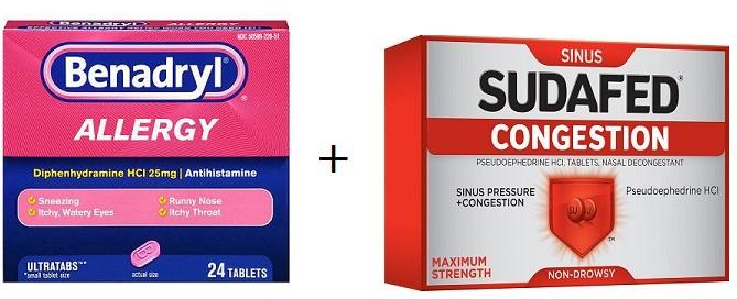 Can you take Benadryl and Sudafed together – Drug Details