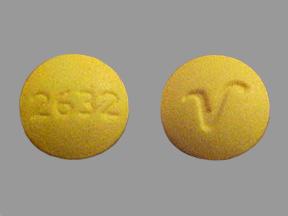 Identify 2632 V pill's drug class dosage size shape ...