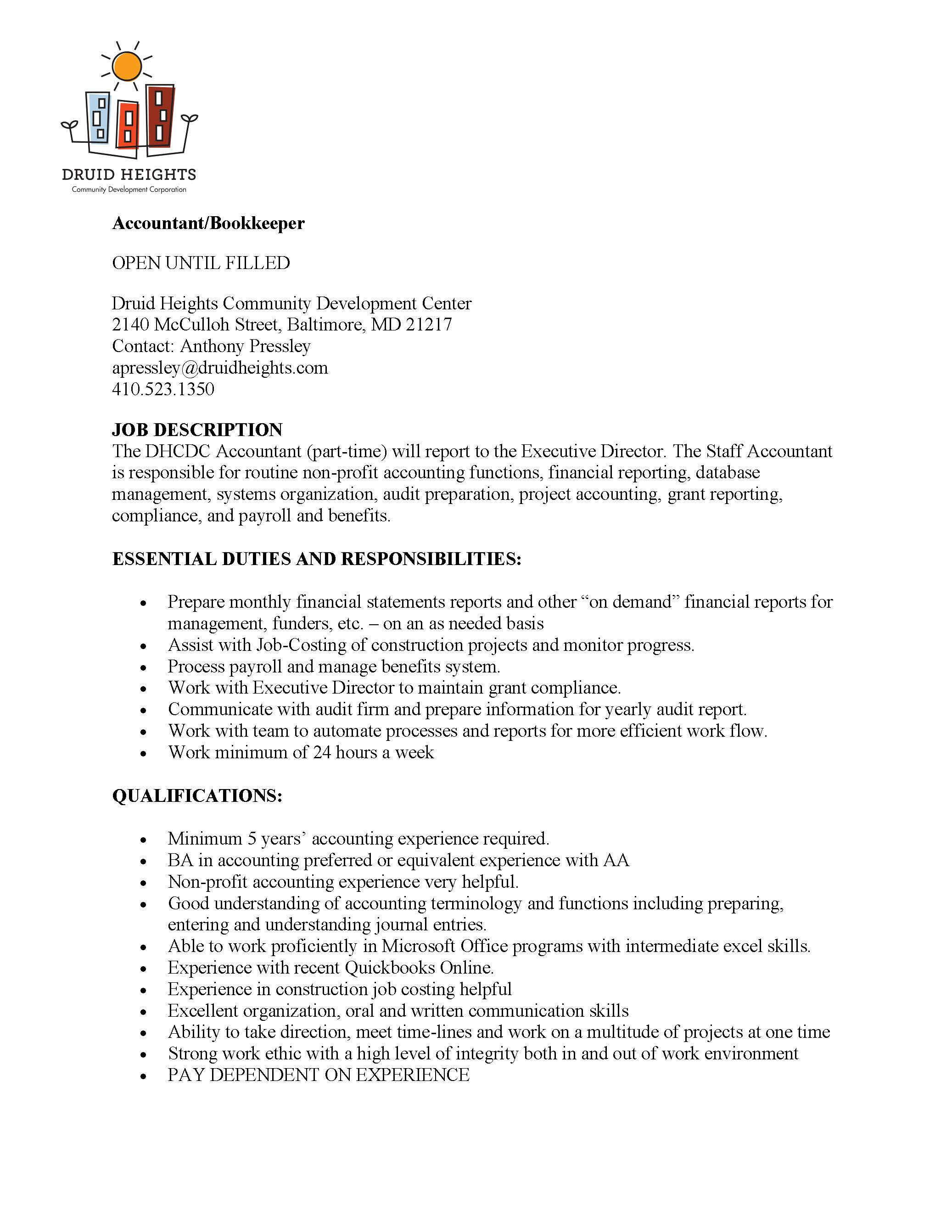 Accountant Position