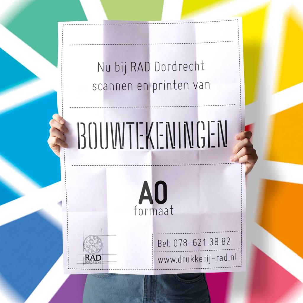 Bouwtekeningen scannen en printen in Dordrecht