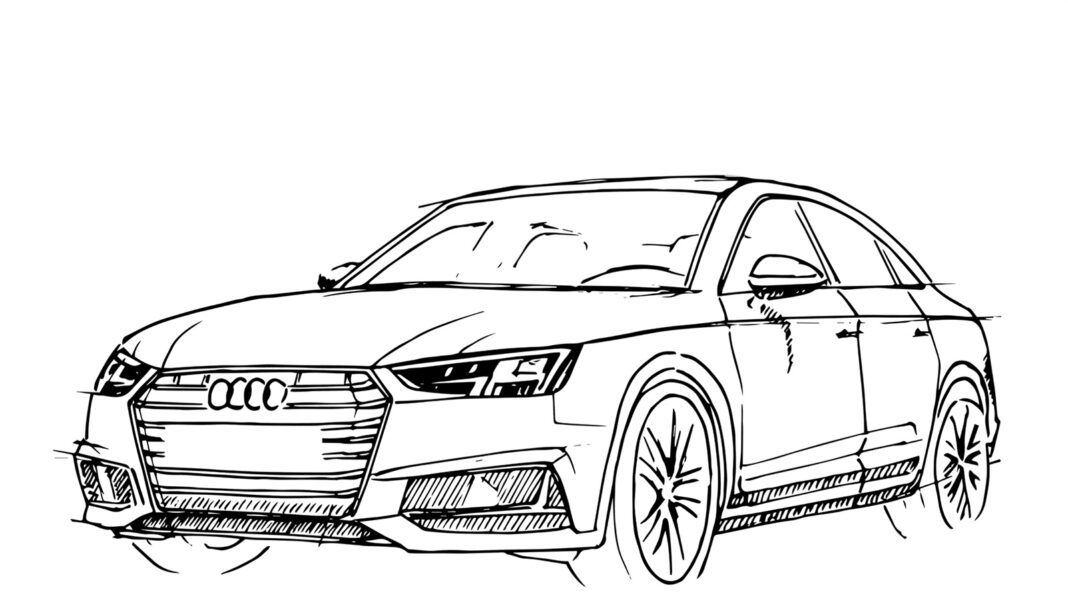 Kolorowanka Audi RS6 do druku