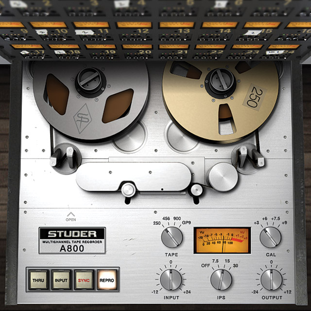 Fig. 5 The Studer A800 for the UAD-2 does a great job emulating tape saturation.