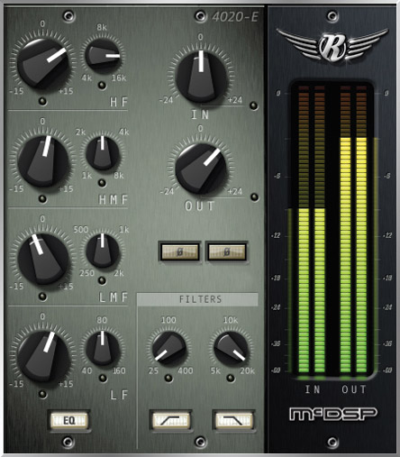 Fig. 9 The McDSP 4020 Retro EQ provides more control and covers more sonic ground than a single EQ-emulation plugin.