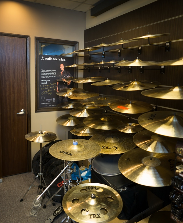 The Cymbal Room at Singapore Drum Shop.