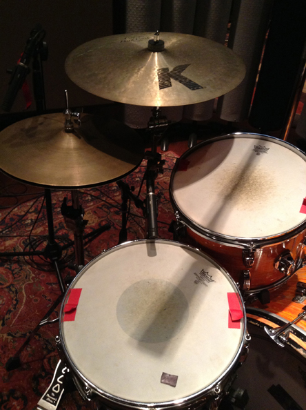1. Snare mike placement using a Neumann KM84.