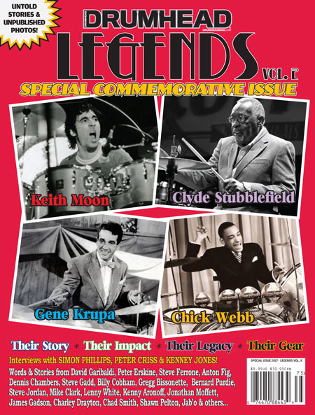 Cover: Keith Moon, Clyde Stubblefield, Gene Krupa, Chick Webb