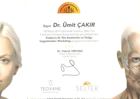 estetik katılım sertifikası