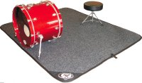 When playing drums live, you will need a mat to set drum ...