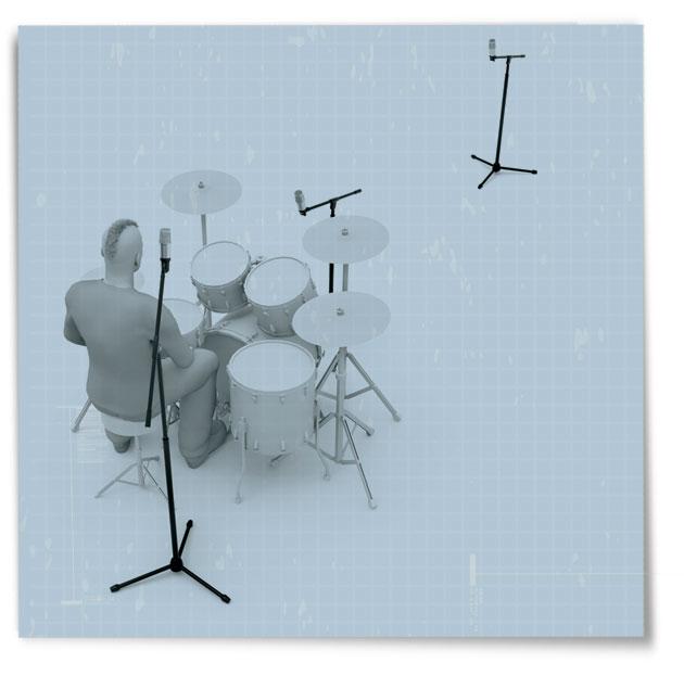one-microphone drum recording