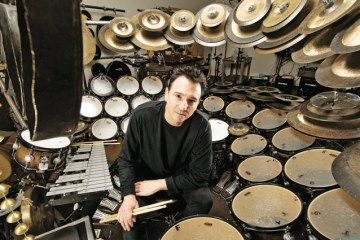 Terry Bozzio with drum set