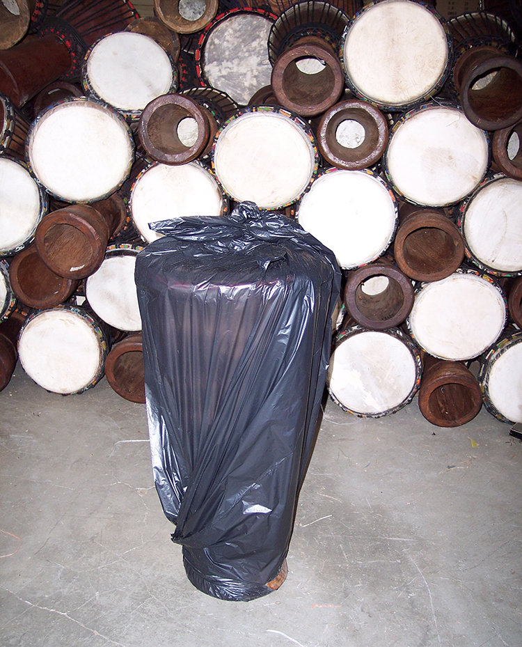 Fig. 2 A bug bomb and garbage bag will take care of any infestation.